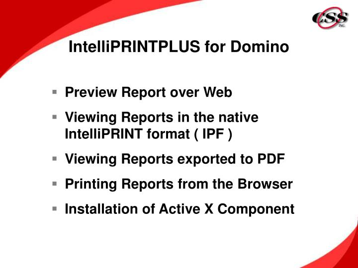 IntelliPRINTPLUS for Domino