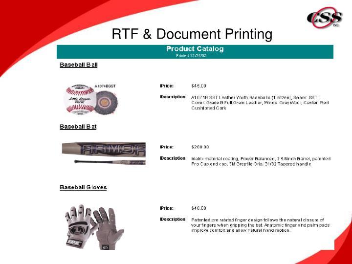 RTF & Document Printing