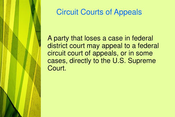 Circuit Courts of Appeals
