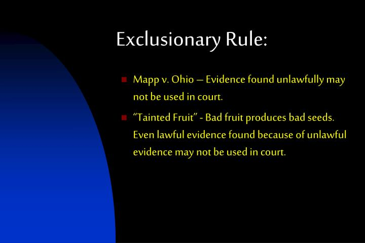 Exclusionary Rule:
