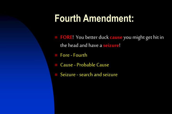 Fourth Amendment: