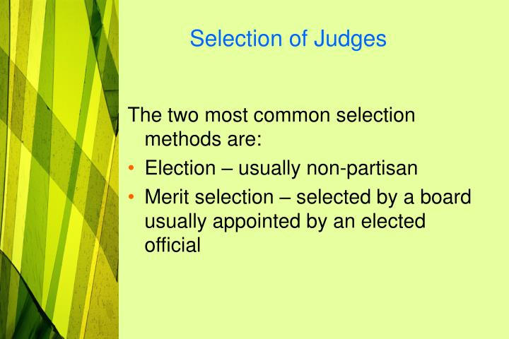 Selection of Judges