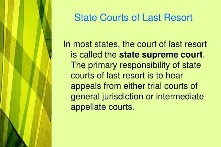 State Courts of Last Resort