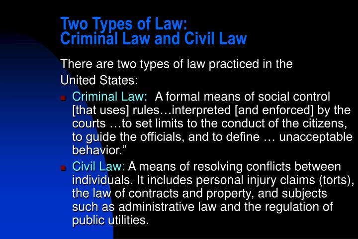 Two Types of Law: