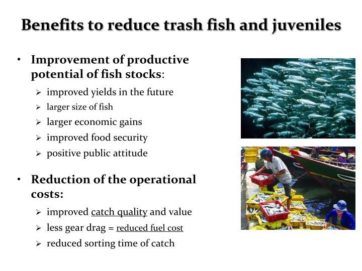 Benefits to reduce trash fish and juveniles