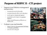 purpose of rebyc ii cti project
