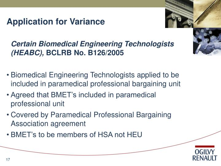 Application for Variance