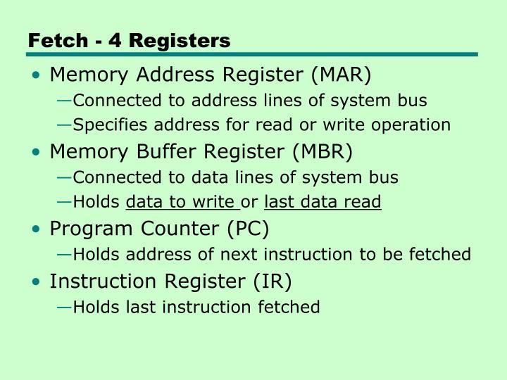 Fetch - 4 Registers
