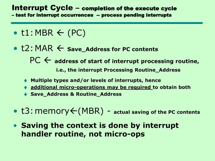 Interrupt Cycle –