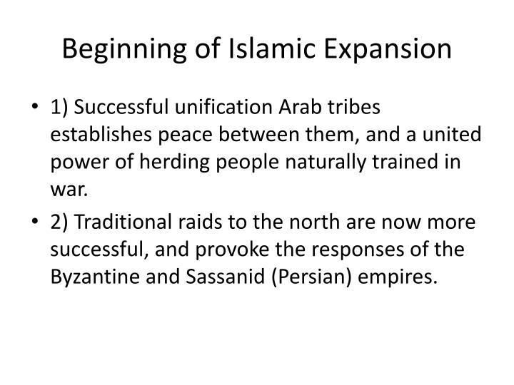Beginning of Islamic Expansion