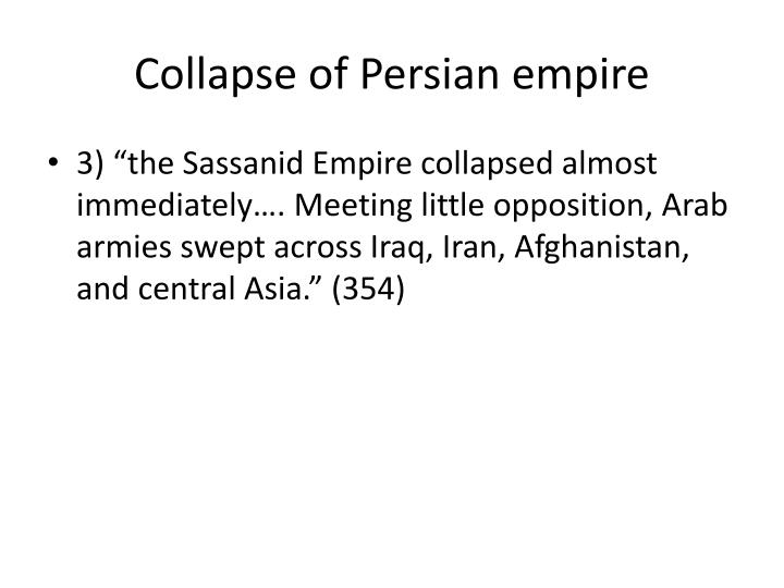 Collapse of Persian empire