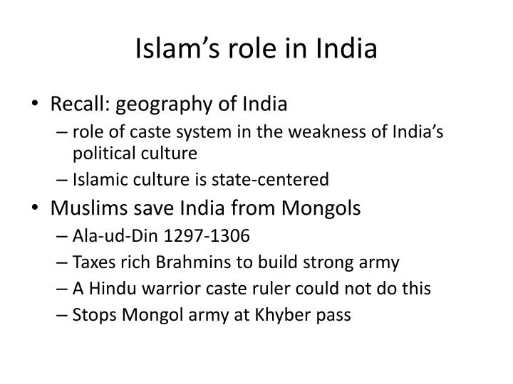 Islam's role in India
