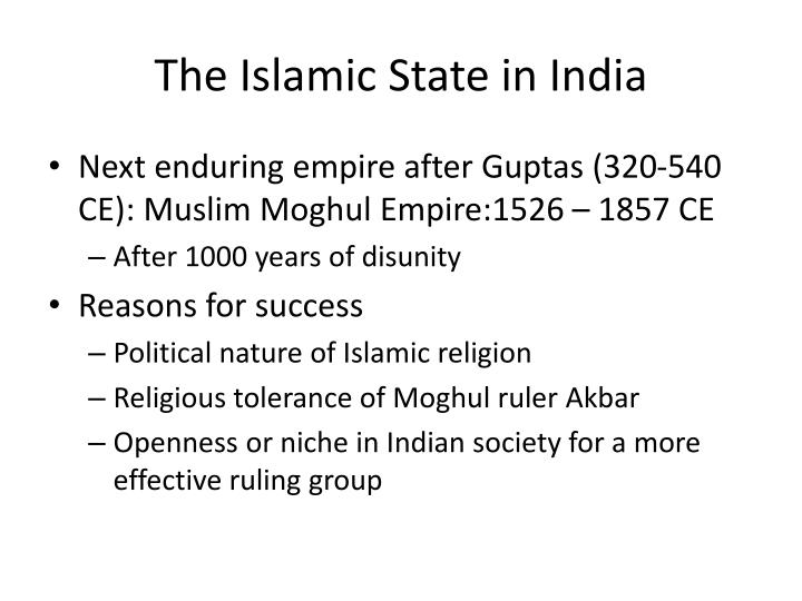 The Islamic State in India