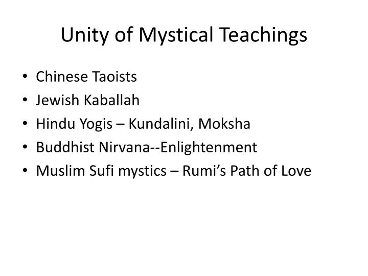Unity of Mystical Teachings