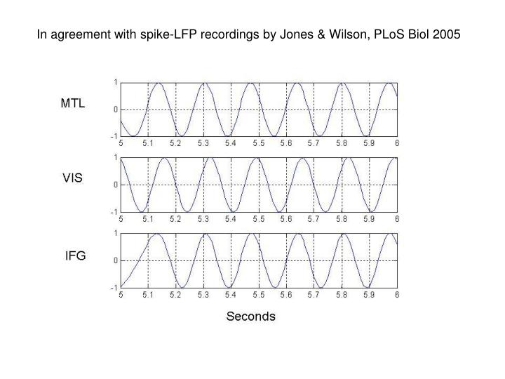 In agreement with spike-LFP recordings by Jones & Wilson,
