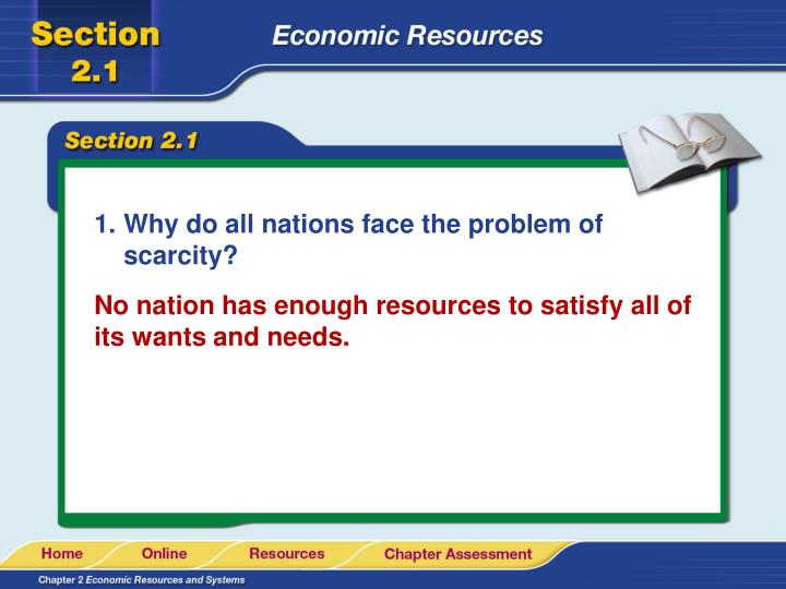 Why do all nations face the problem of scarcity?