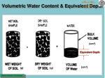 volumetric water content equivalent depth