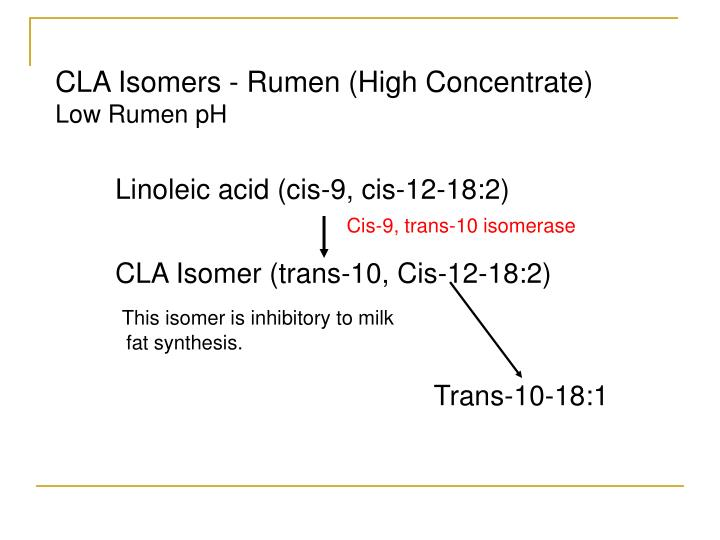 CLA Isomers - Rumen (High Concentrate)