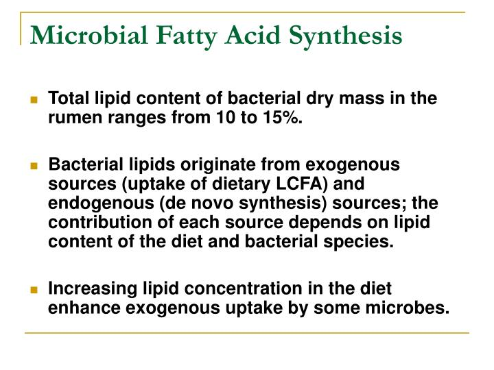 Microbial Fatty Acid Synthesis