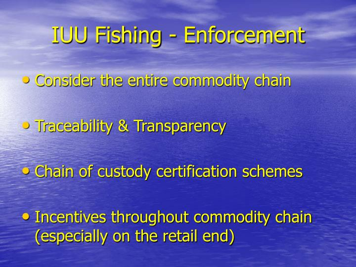 IUU Fishing - Enforcement