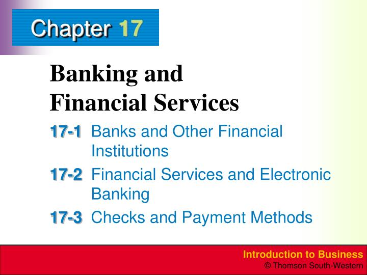 Banking and financial services