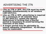 advertising the itn