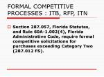 formal competitive processes itb rfp itn