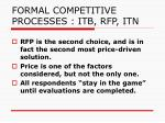 formal competitive processes itb rfp itn4