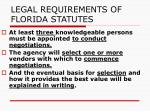 legal requirements of florida statutes1