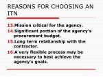 reasons for choosing an itn3