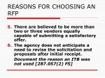 reasons for choosing an rfp2