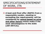 specifications statement of work itn1