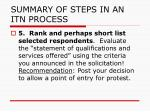 summary of steps in an itn process4
