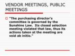 vendor meetings public meetings4