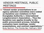 vendor meetings public meetings7