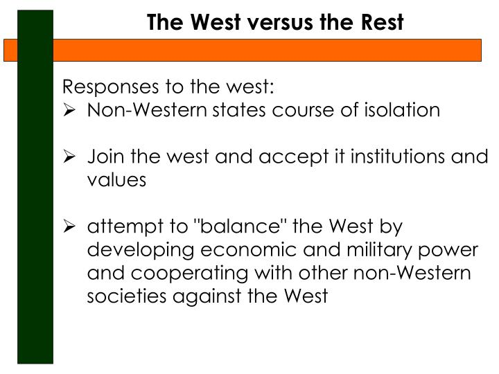 The West versus the Rest