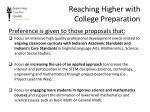 reaching higher with college preparation