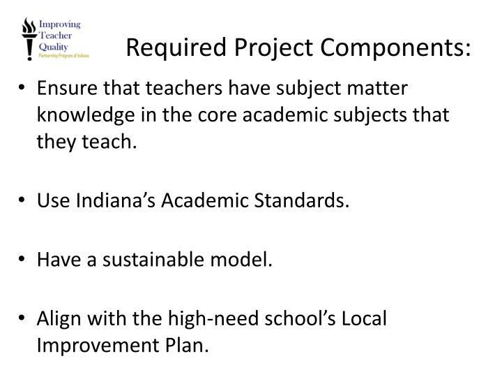 Required Project Components: