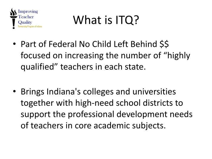 What is ITQ?