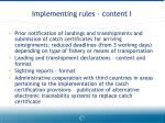 implementing rules content i