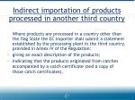 indirect importation of products processed in another third country