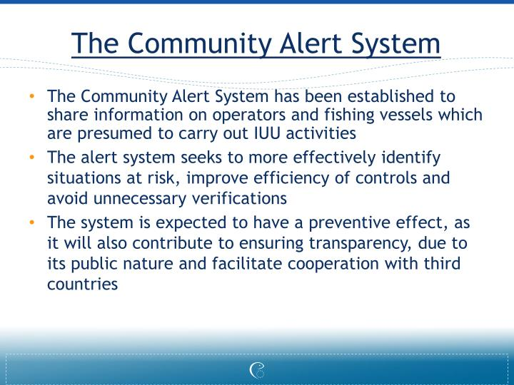 The Community Alert System