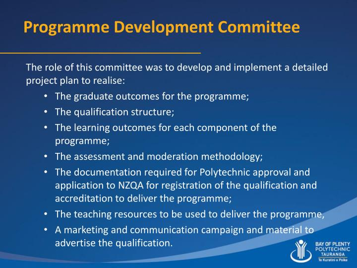 Programme Development Committee