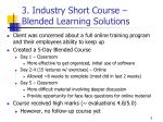 3 industry short course blended learning solutions