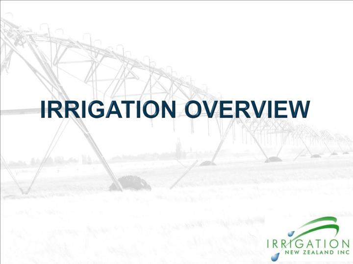 irrigation overview