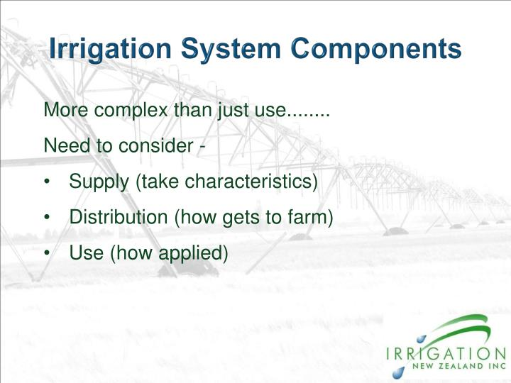 Irrigation System Components