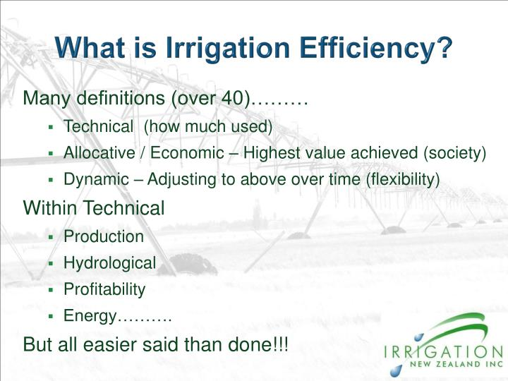 What is Irrigation Efficiency?