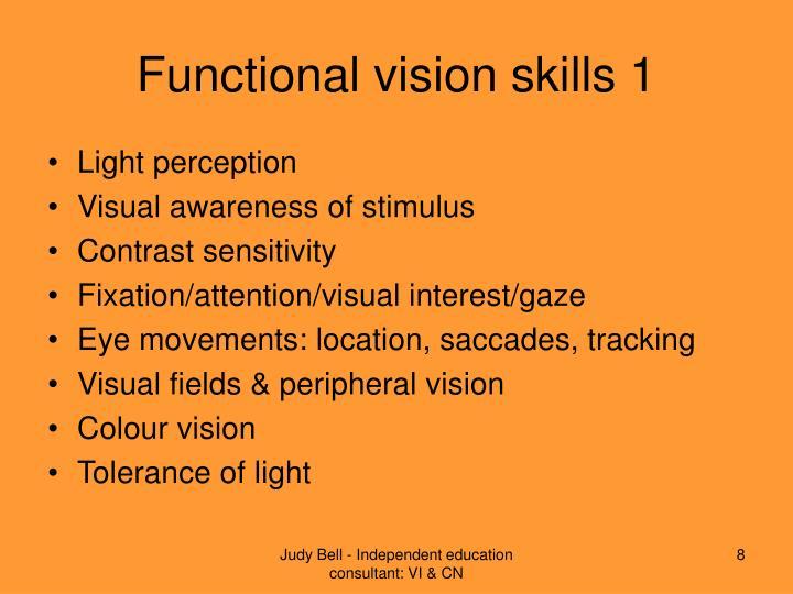 Functional vision skills 1