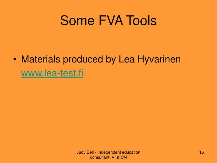 Some FVA Tools