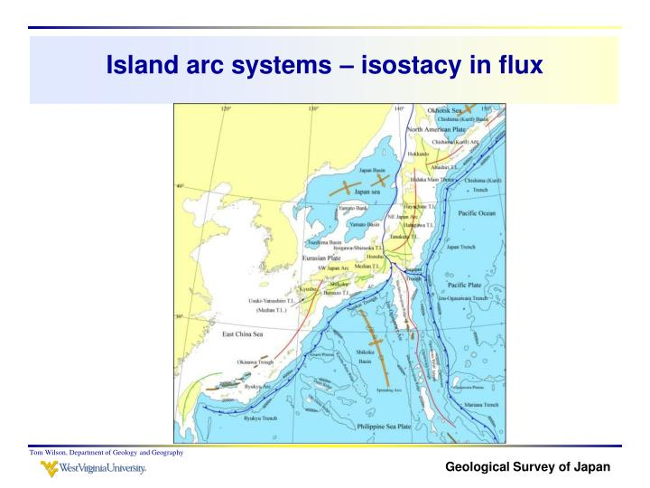 Island arc systems – isostacy in flux